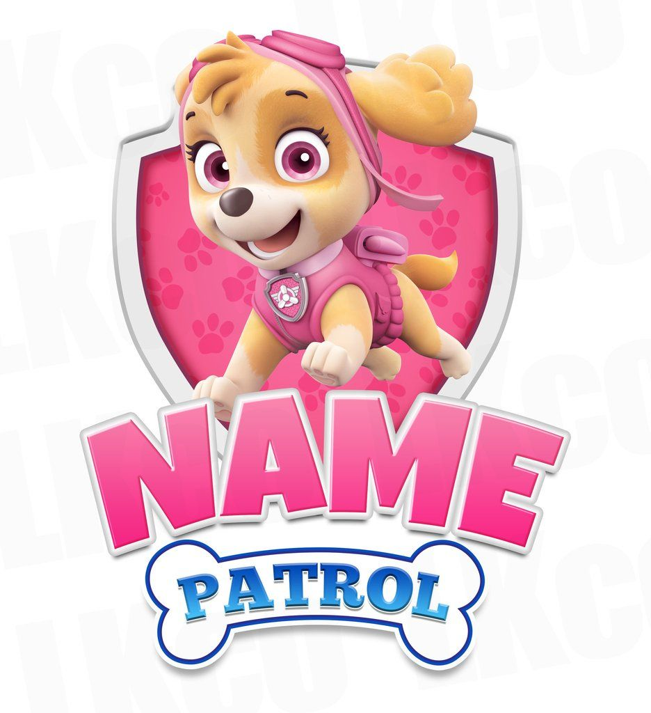 Paw Patrol Iron On Transfer - Family Members Add-on | Skye