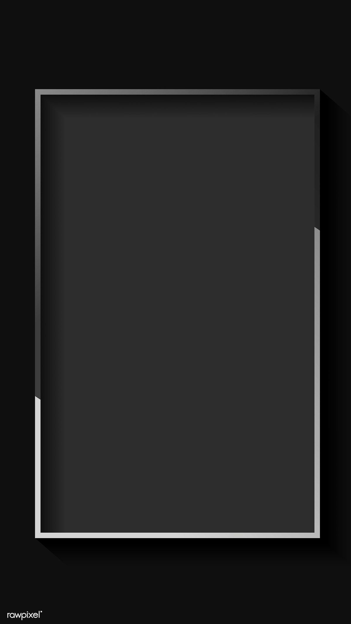 Download Premium Vector Of Blank Rectangle Black Abstract Frame Vector Black Abstract Abstract Iphone Background Images