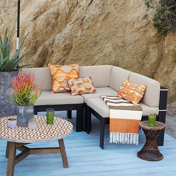 Wood Slat Sectional Westelm 152 1274 Choose What Pieces You Want And Create Your Own Outdo Outdoor Furniture Sale Patio Furniture Sets Outdoor Furniture Sets