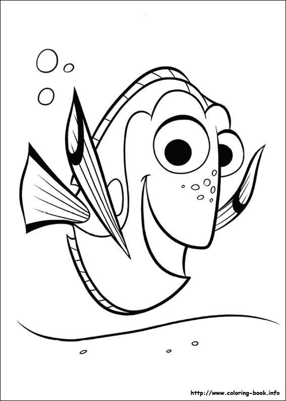Finding Dory coloring picture | Coloring & Challenges for Kids ...