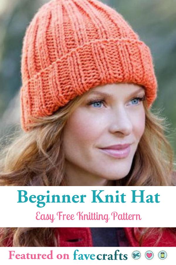 Beginner Hat Knitting Pattern Knitting Patterns Free Beginner Knitting Patterns Free Hats Easy Knit Hat