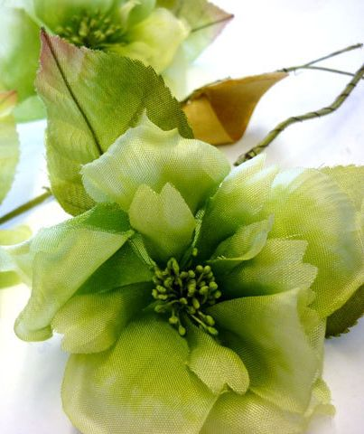 Vintage green silk millinery flowers vintage ribbon lace vintage green silk millinery flowers mightylinksfo Gallery