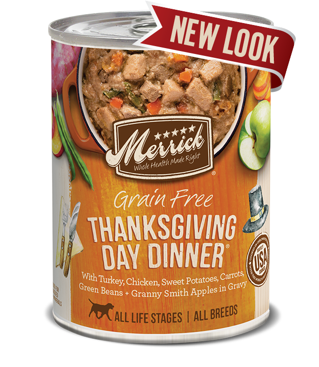 Grain Free Thanksgiving Day Dinner in Gravy Canned dog