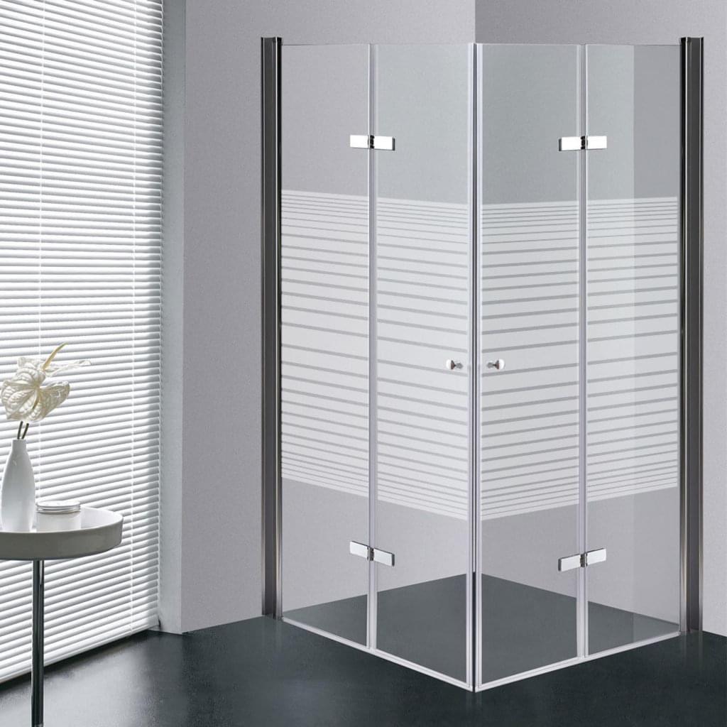 Glas Falttur Duschkabine Faltwand Duschabtrennung Duschtur