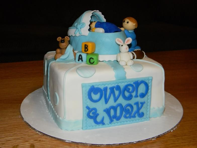 Cake Designs For Brother : Baby shower big brother little brother cake Little Cakes ...