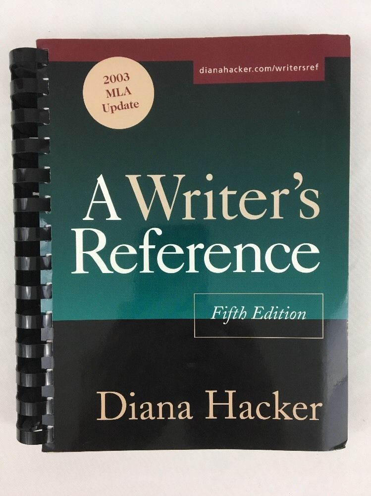 A Writers Reference 2003 MLA Update By Diana Hacker 5th