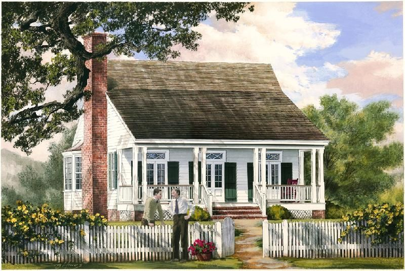 Havens south designs love william poole 39 s american for Acadian cottage house plans