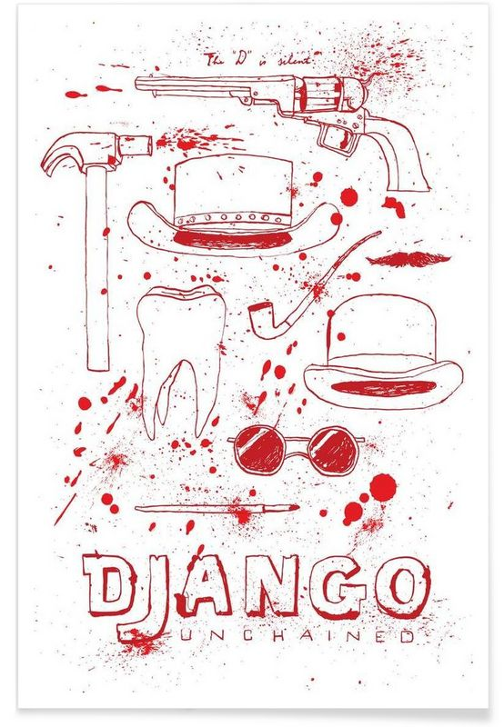 Django Unchained en Affiche premium par Mary and the Locks | JUNIQE