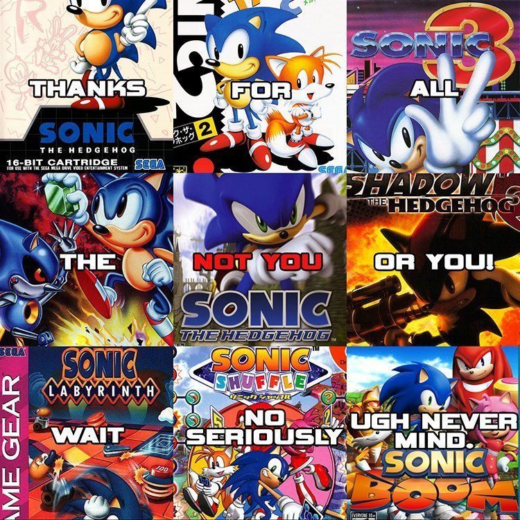 Thanks Sonic Via R Gaming Sonic Gaming Memes Meme Template