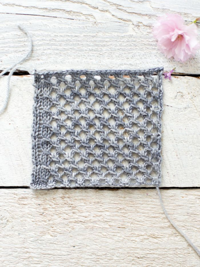 How To Make An Easy Lace Knit Shawl Pattern | Strickmuster, Stricken ...