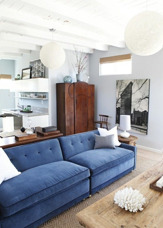 Amazing Blue Couch Gray Walls Jute Rug Home Living Room Home Machost Co Dining Chair Design Ideas Machostcouk