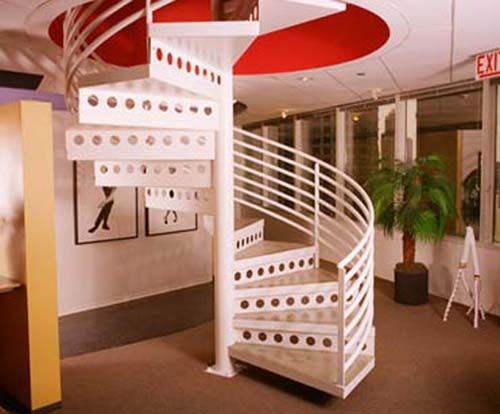 Staircase Ideas | metal staircase wood stair as you can also use galvanized steel stairs ...
