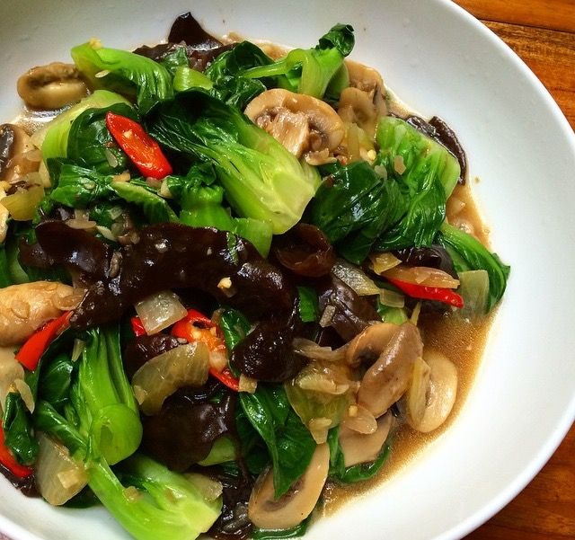 Resep Tumis Pokchoy Jamur Masakan Vegetarian Resep Masakan Resep Ayam