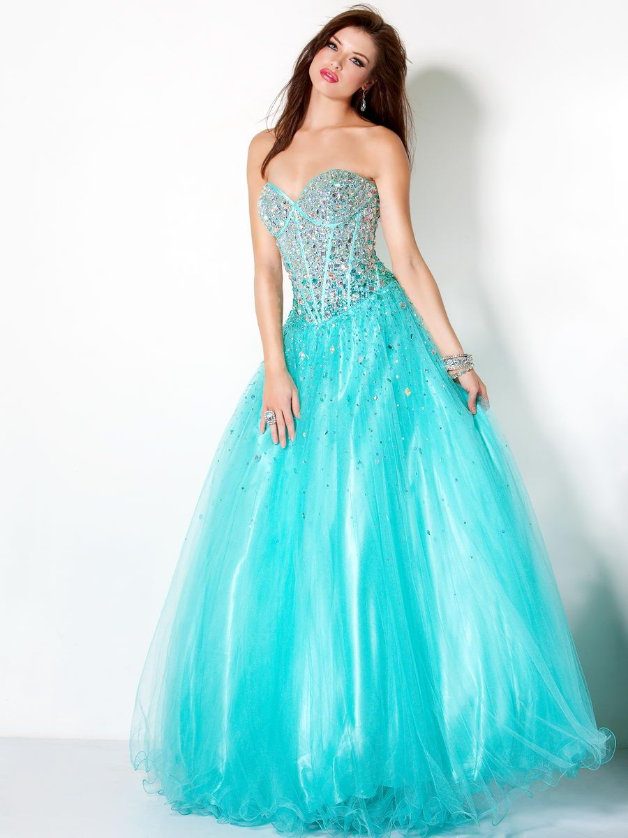 Turquoise ballgown ball gown princess dress beautiful jovani