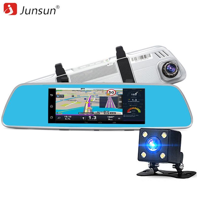 "7/"" HD 1080P Android5.0 Car DVR Mirror Dash Cam Navi GPS Wifi 3G Rear View Camera"