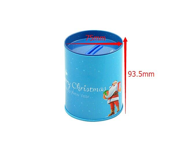 Item:christmas money tin can from tin factory in China Size:75*93.5 ...