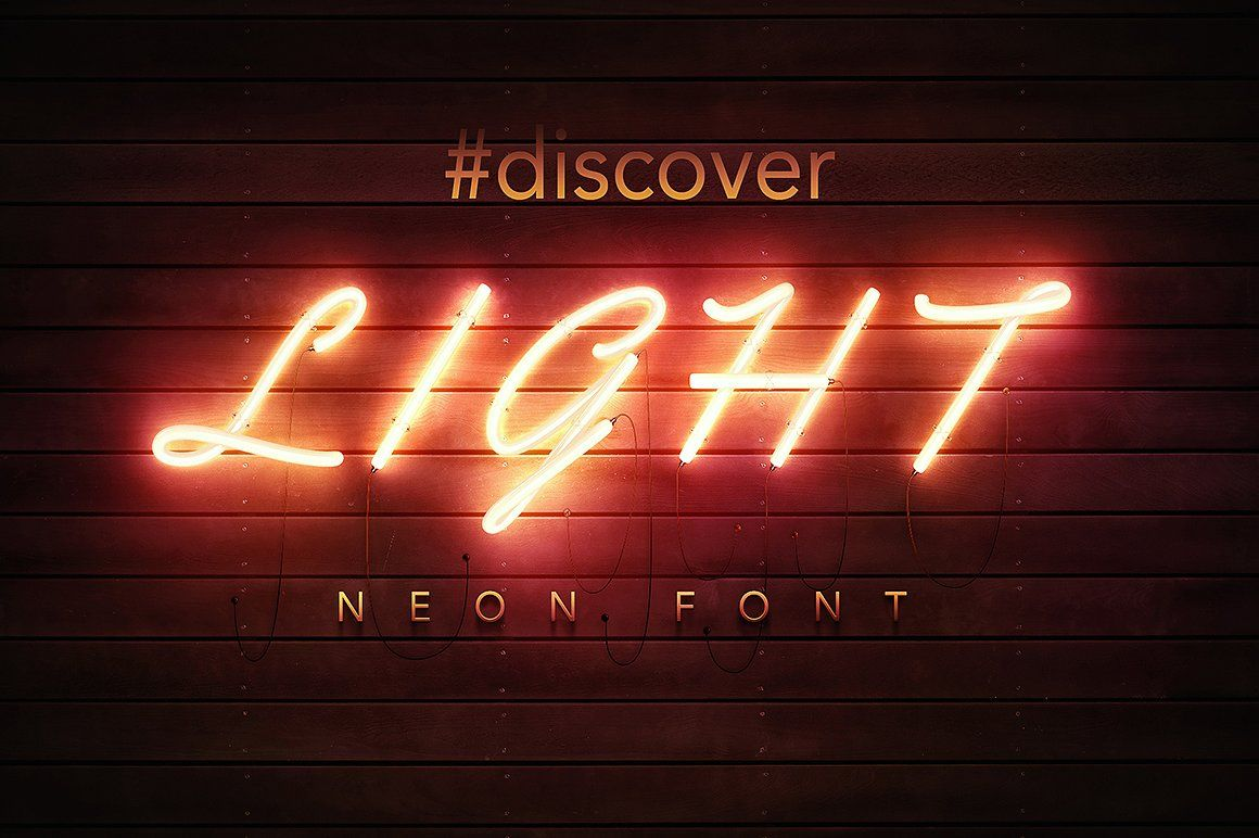 PSD Neon Font by Gkcreative on creativemarket Neon