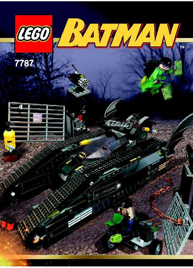 Batman The Bat Tank The Riddler And Banes Hideout Lego 7787