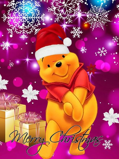 christmas navidad and winnie pooh image christmas pinterest