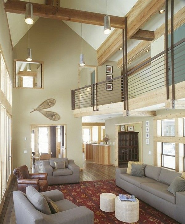 25 Tall Ceiling Living Room Design Ideas - 25 Tall Ceiling Living Room Design Ideas Creative, High Ceilings