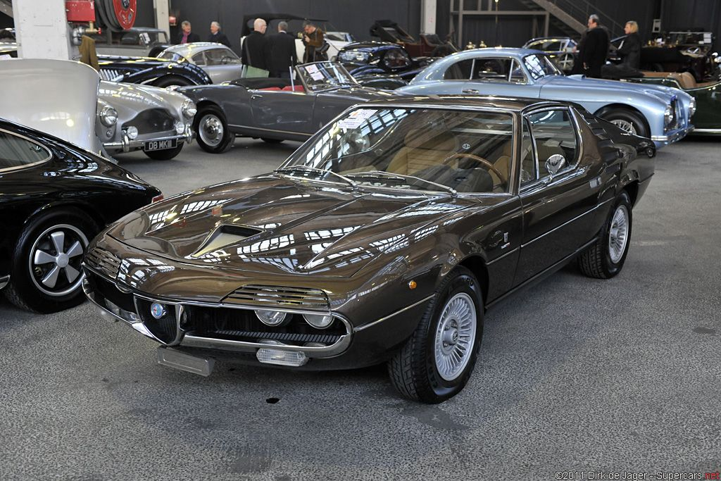 1977 Alfa Romeo Montreal Coupe. Check out the grills over the headlights. What a detail.