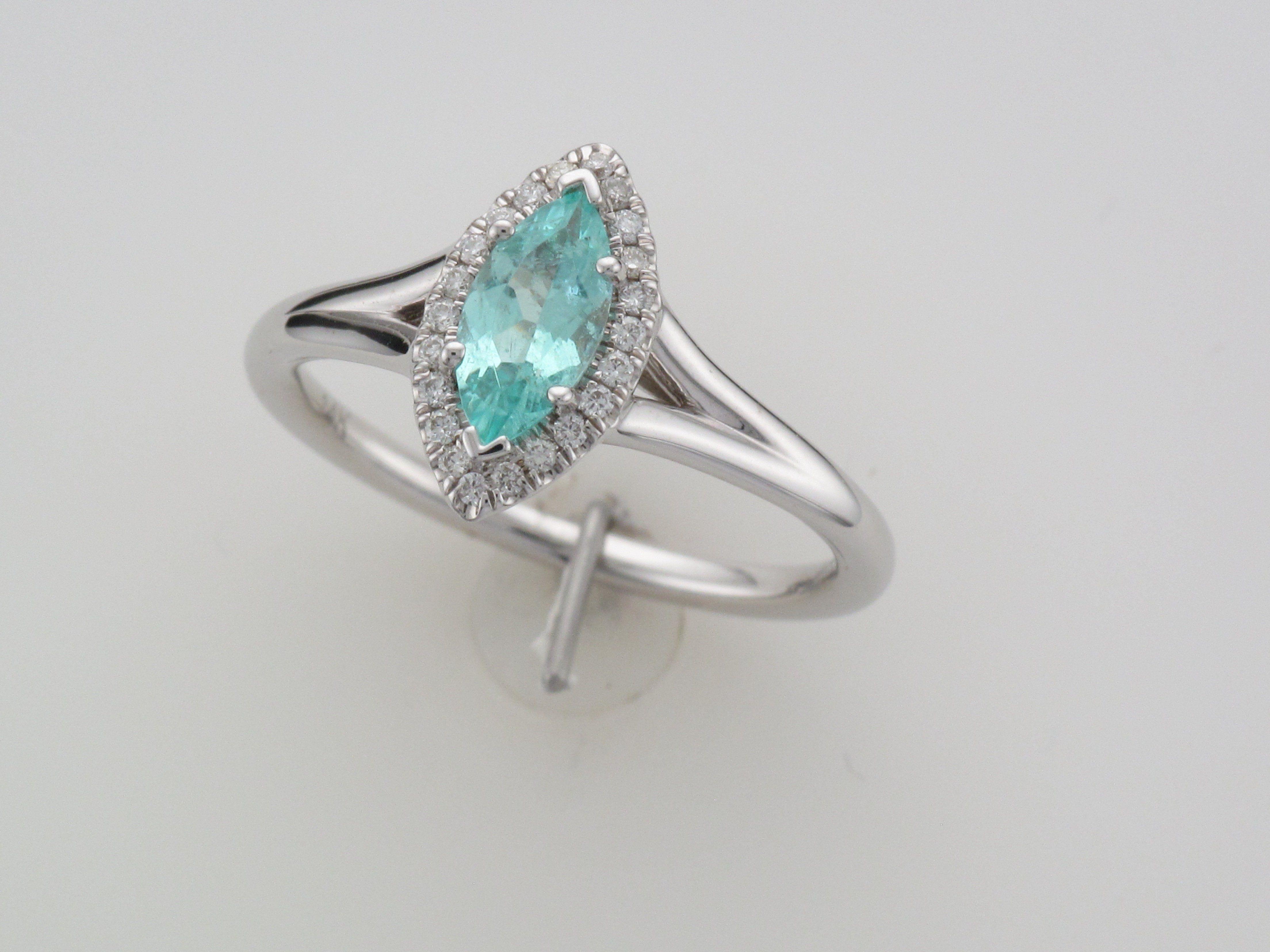 e7499839b1971 Tropical Blue Paraiba Tourmaline Ring with diamonds by Coast Diamond ...