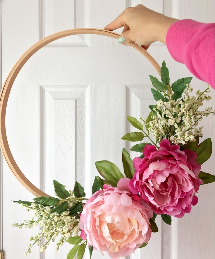 Photo of DIY: embroidery hoop wreath    Reverie events