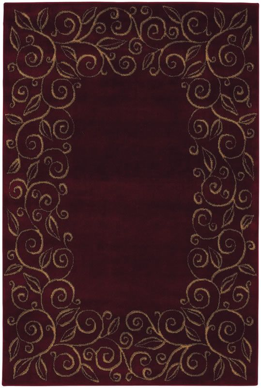 Accents Collection Chateau Garnet Burgundy Contemporary