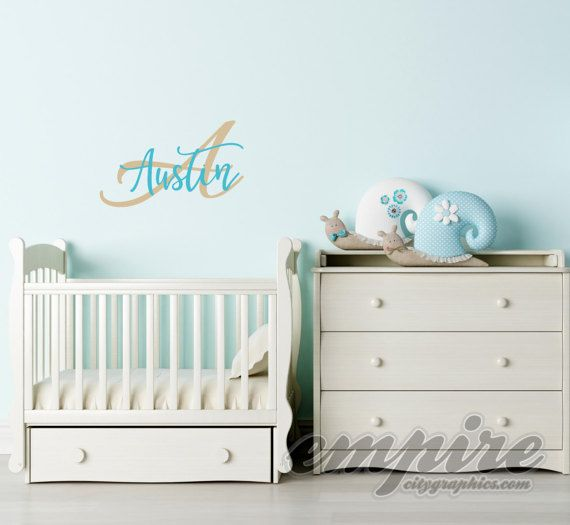 Custom Name Decal Personalized Name And By EmpireCityStudios - Monogram wall decals for nursery
