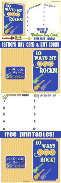 Free printable! Dad Rocks! Fathers day card with great gift ideas at inkhappi.com There is also a generic version... YOU