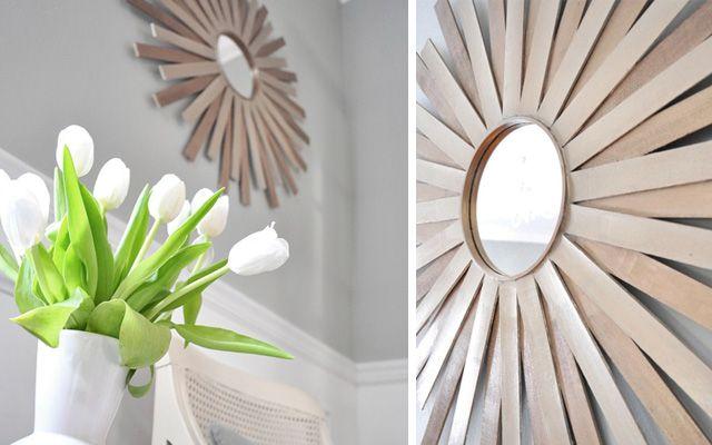 Diy decoraci n de marcos para espejos redondos - Decoracion de espejos ...