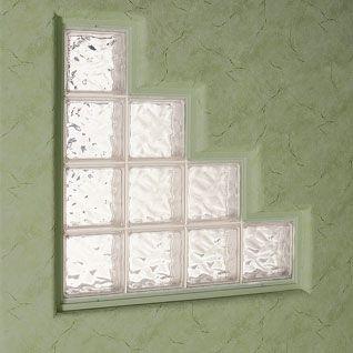 Glass Block Windowin Stair Step Design Janelas De Bloco De Vidro