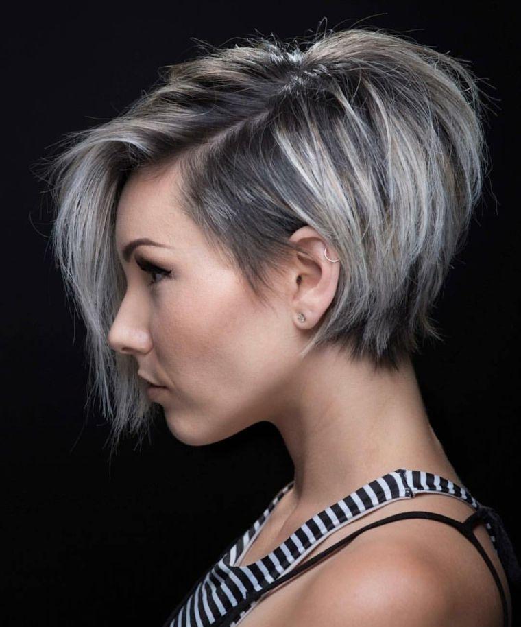 Corte de cabello bob asimetrico