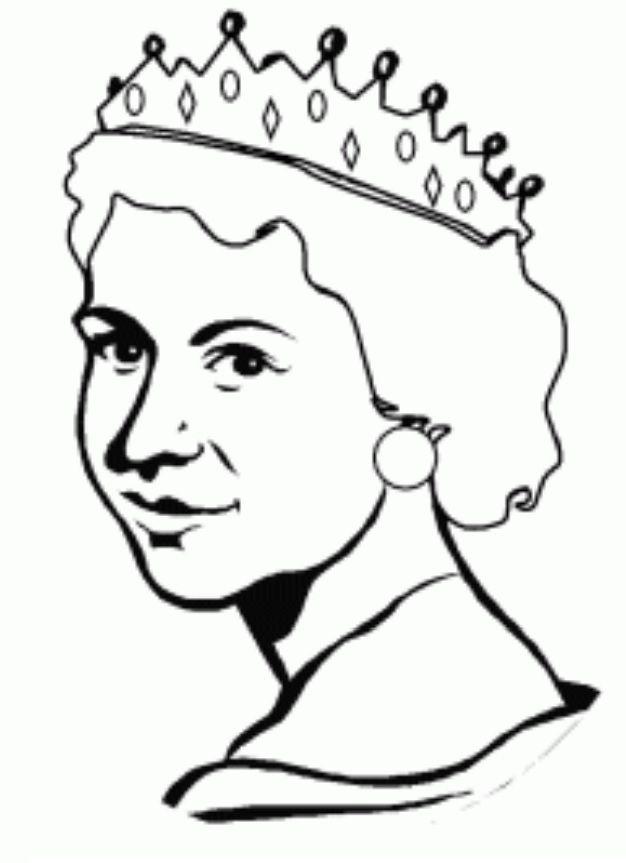 Queen Elizabeth Coloring for