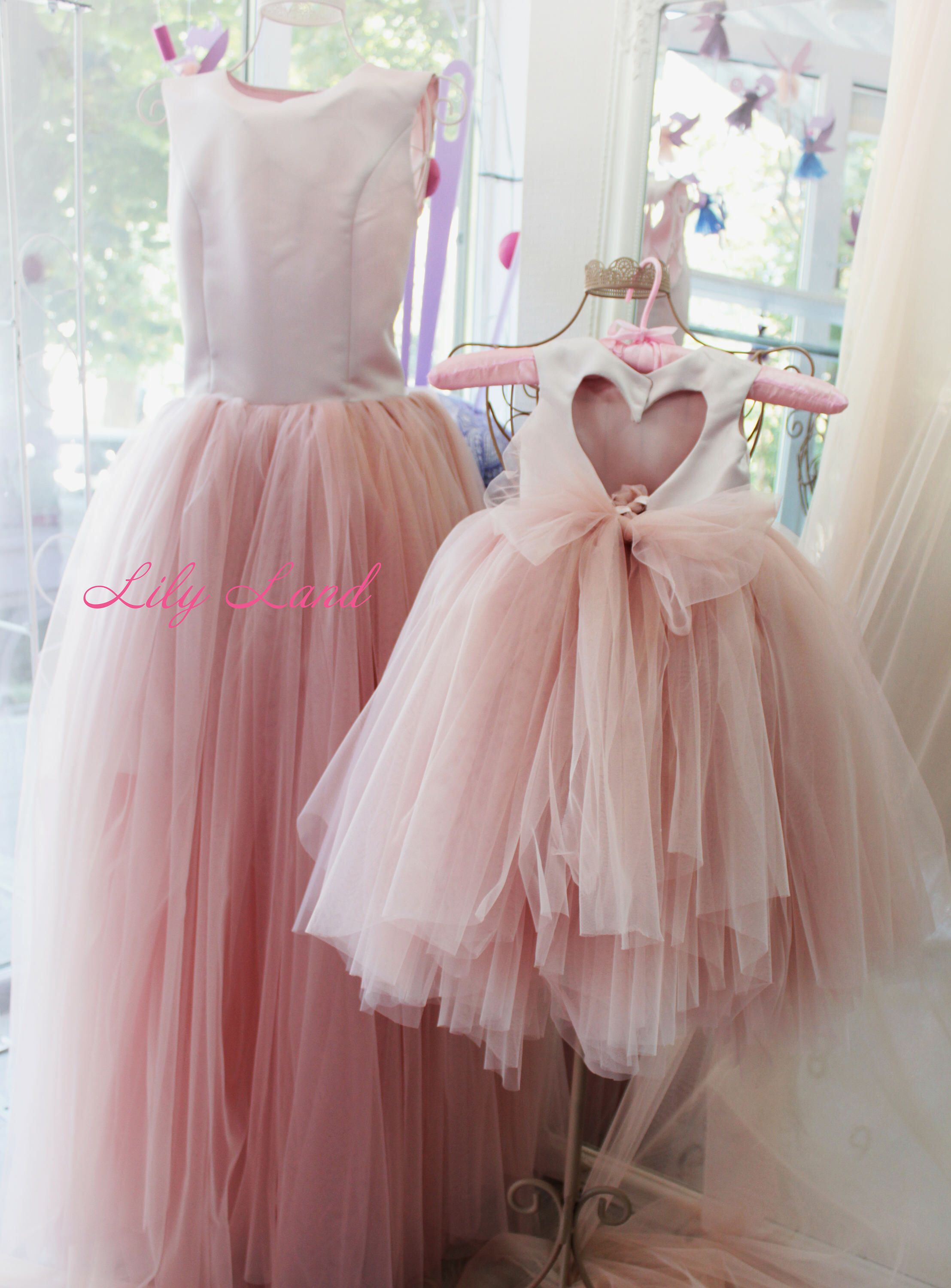 Pink Mother Daughter Matching Dress Tulle Mommy And Me Christmas