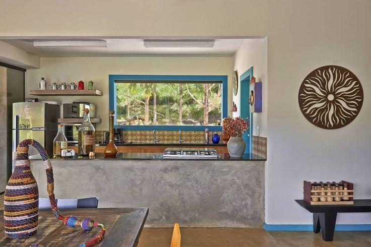 Cozinha de sitio simples