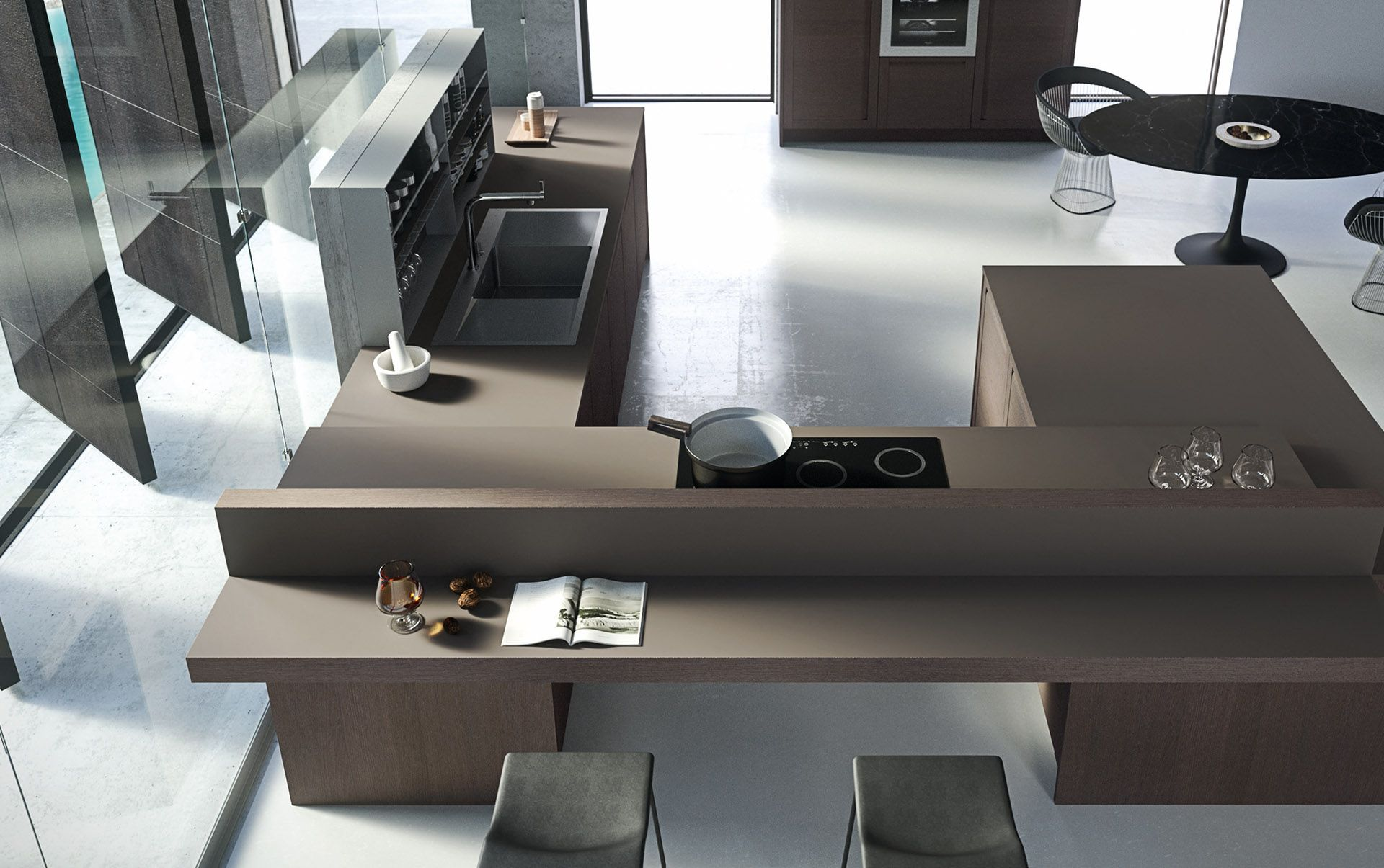 Modern Italian Custom Made Kitchen Cabinets Available In Brooklyn Ny Exclusive Home Interiors Modern Italian Modern Modern Kitchen