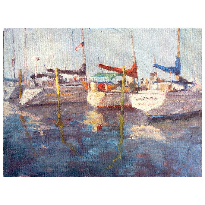 John beard collection three sailboats wall art details pinterest