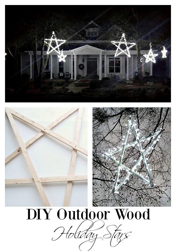 DIY Outdoor Wooden Lighted Stars Pinterest Star, Holidays and