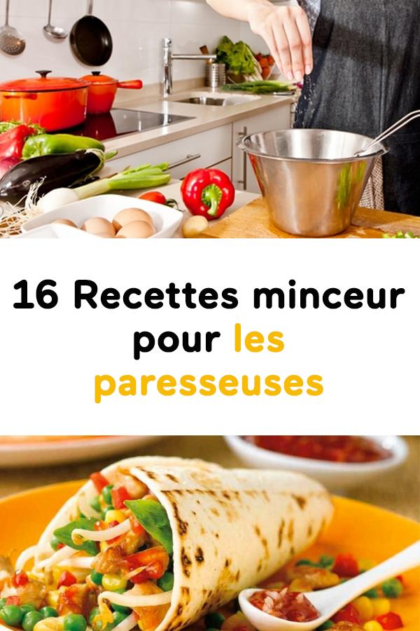 Idée Repas Minceur 16 Recettes minceur pour les paresseuses | Healthy recipes