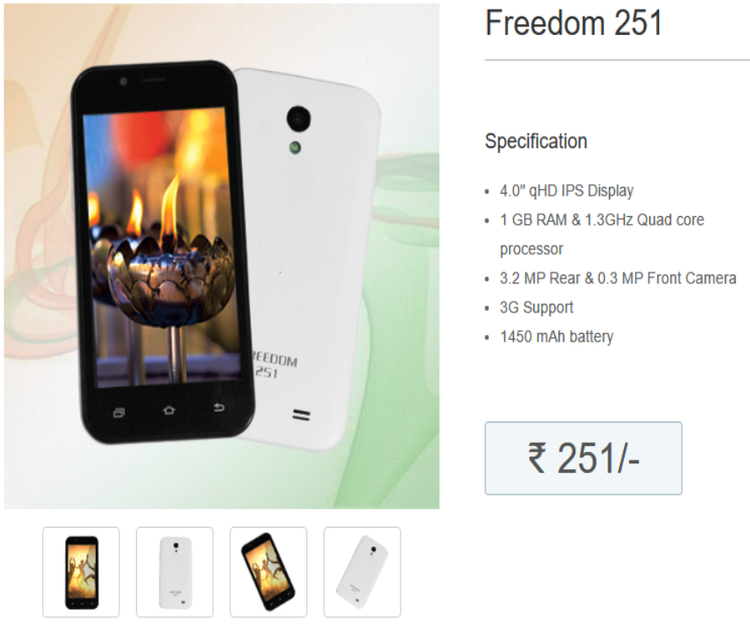 Ringing Bells Launch Freedom 251 With New Website And More Products Product Launch Mobile Gadgets Freedom