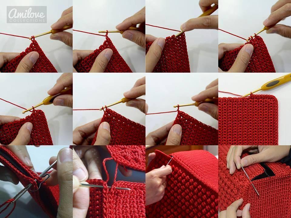 Bela Bolsa De Croche Maravilhosa Imagem Com Grafico E Passo A