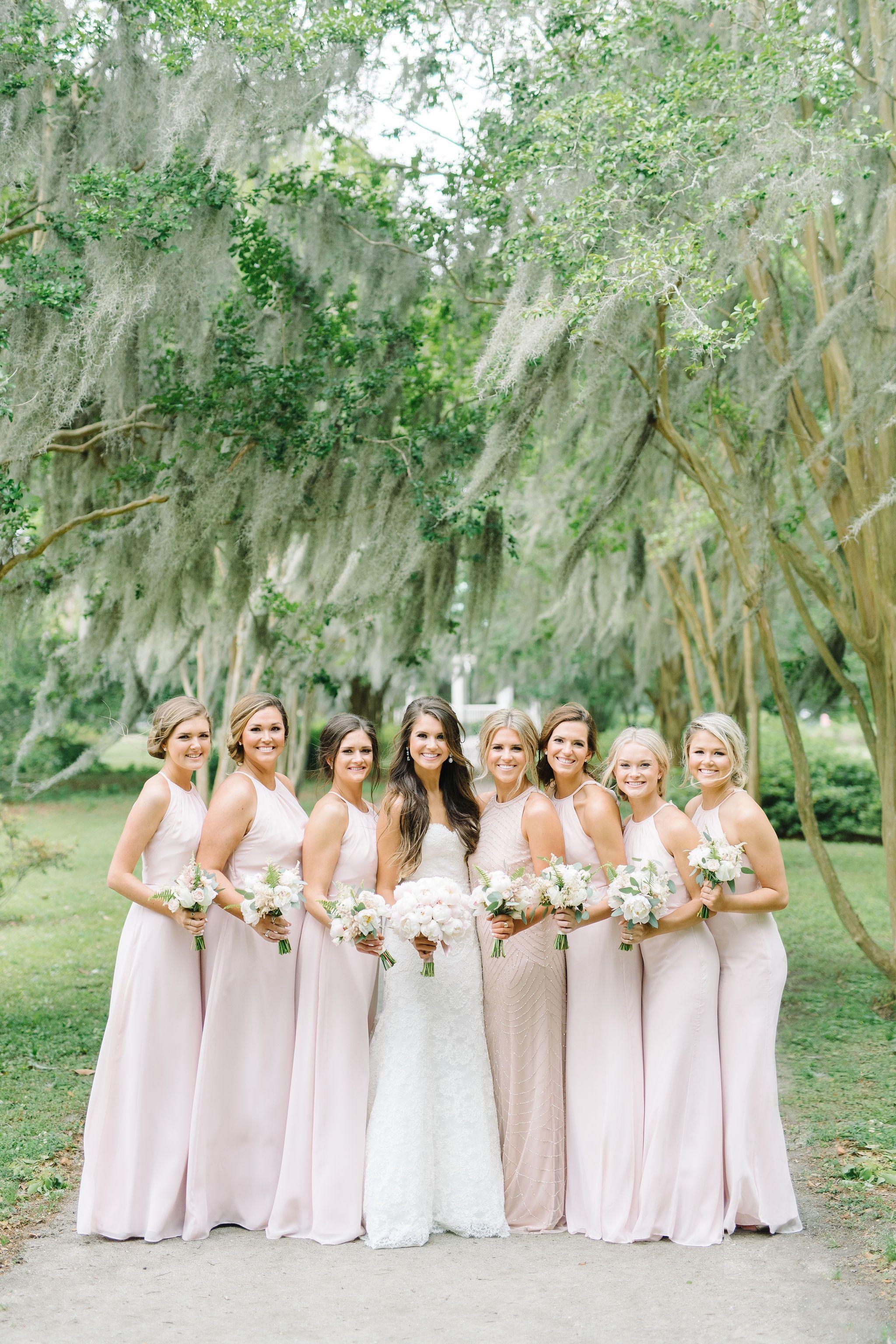 Beautiful Light Pink Bridesmaids Dresses For A Spring Wedding Light Pink Bridesmaid Dresses Light Pink Bridesmaids Matching Bridesmaids Dresses [ 3072 x 2048 Pixel ]