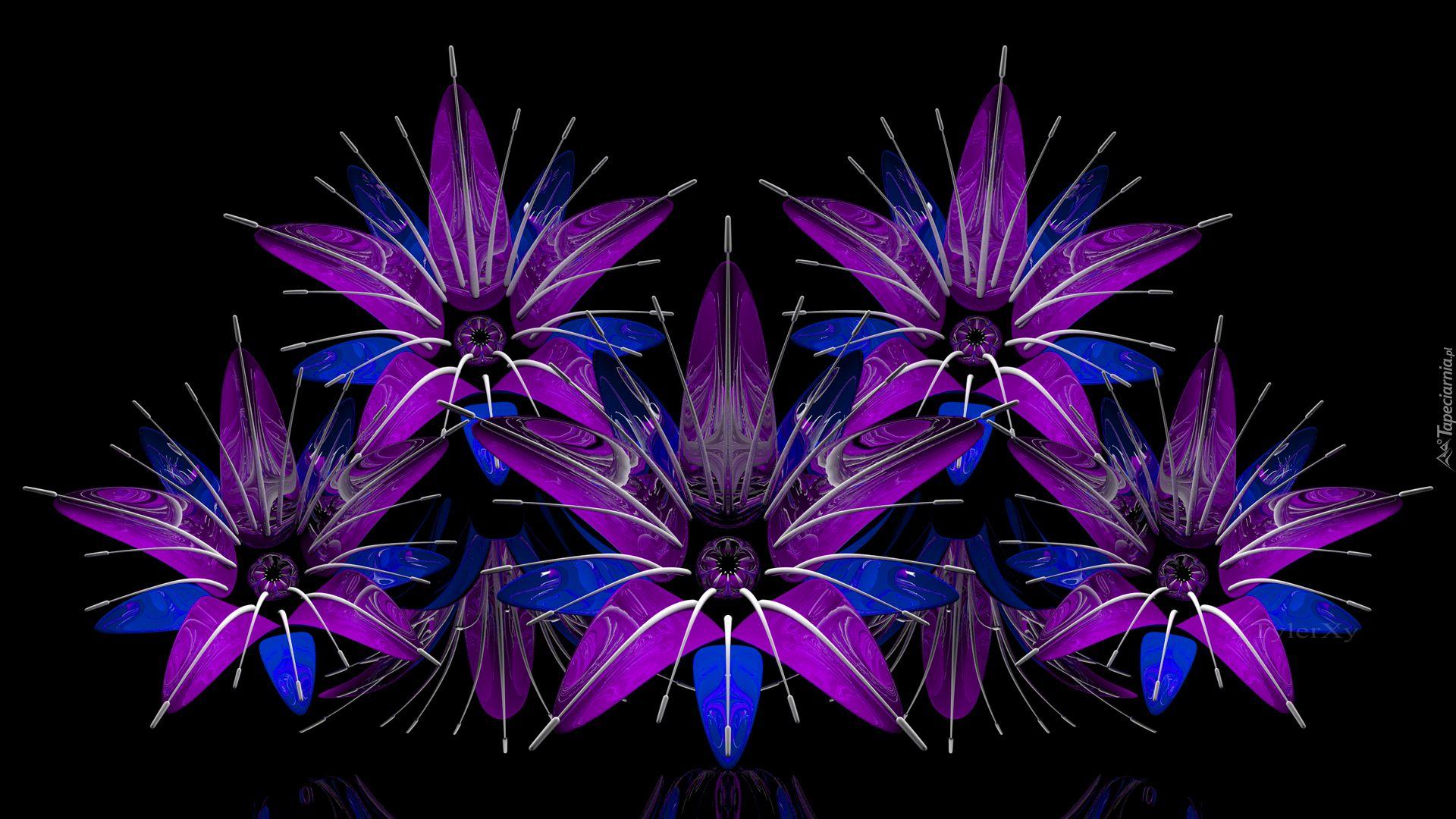 Grafika 3d Kwiaty Art Plants