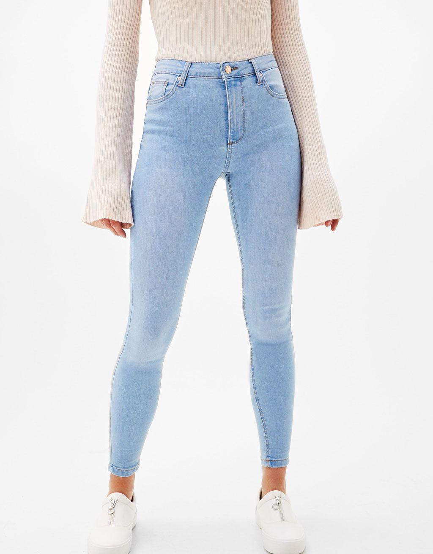 b697e0b6838e Skinny jeans high waist - Jeans - Bershka Netherlands