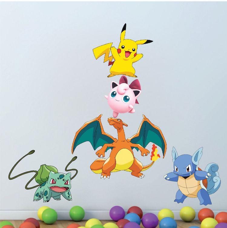 Pokemon Character Wall Graphics   Pokemon Birthday Party Theme Decor    Pikachu Stickers   Pokemon Wall