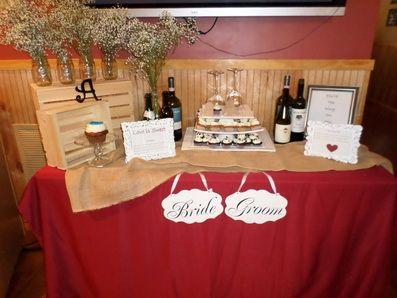 Cupcake Display Table - Wine theme - www.bignlittleproductions.com