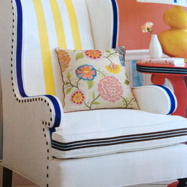 Add Trim To A Chair With Fabric Glue Or Hand Sew The Cushion Cover