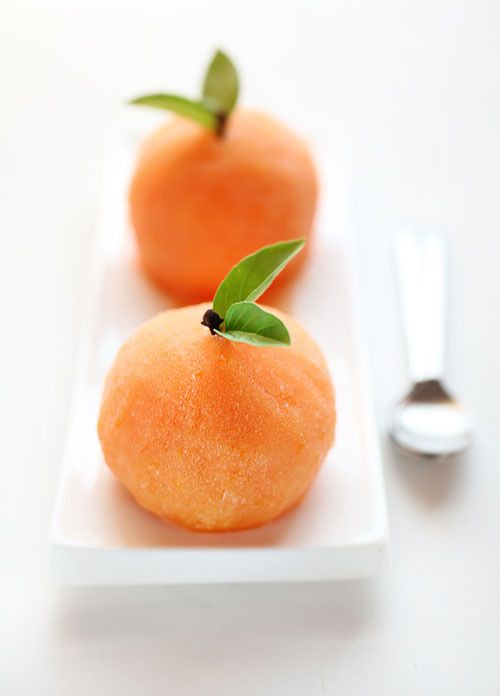 delicious little scoops of citrus sorbet