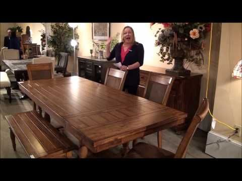 Grand Estate Rectangular Trestle Dining Table In Acacia By Winners Only    Home Gallery Stores